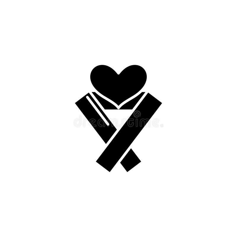 Health care black icon concept. Health care flat vector symbol, sign, illustration. Health care black icon concept. Health care flat vector website sign, symbol royalty free illustration