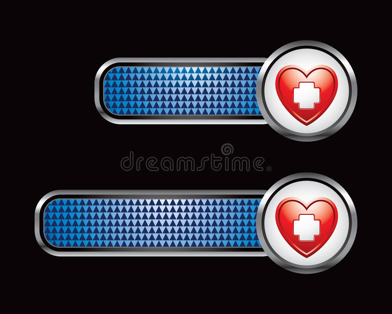 Health Care Blue Banners Stock Images