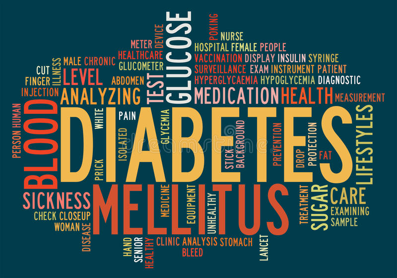 Health-care diabetes info-text vector illustration