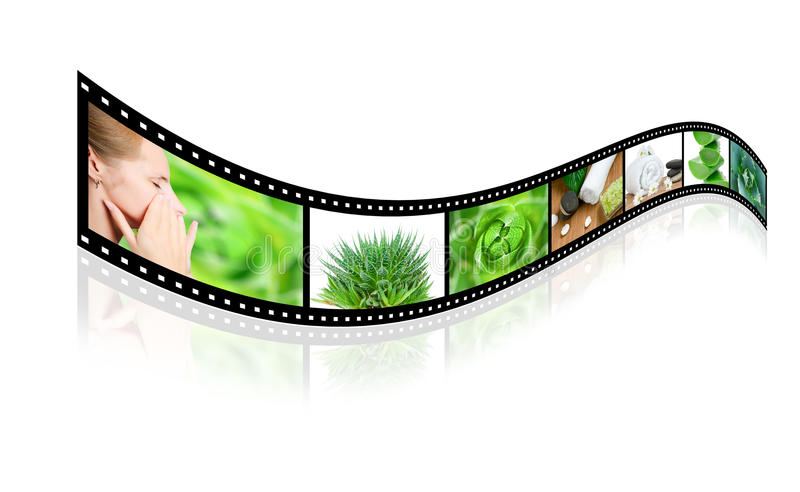 Download Health Care Film Slide Isolated On White Royalty Free Stock Images - Image: 14158559