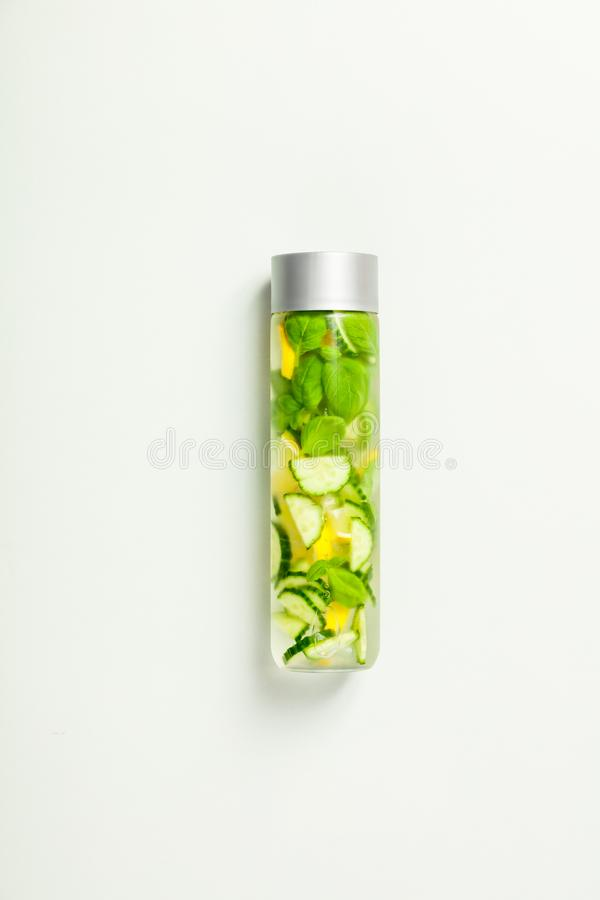 Infused water-vertical composition royalty free stock images