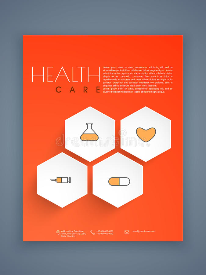 Health Care Flyer Template Or Brochure Design Stock Photo  Image