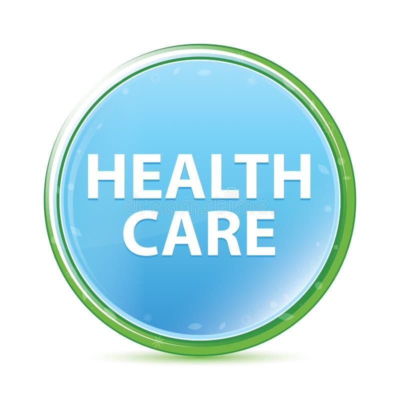 Health Care natural aqua cyan blue round button vector illustration