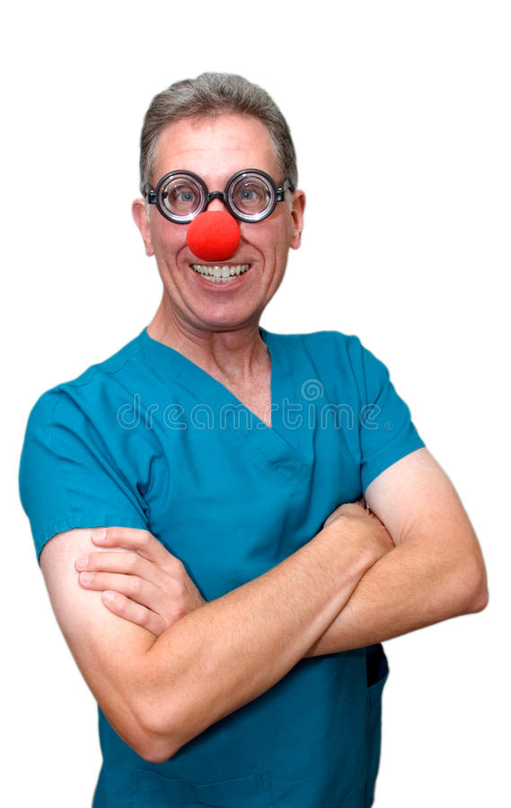 Download Health Care Issues Funny Doctor Or Nurse Isolated Stock Image - Image of isolated, nose: 11597659