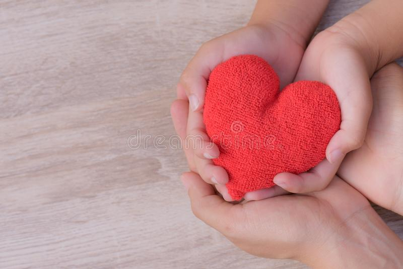 Health care, love, organ donation, family insurance and CSR concept. stock images