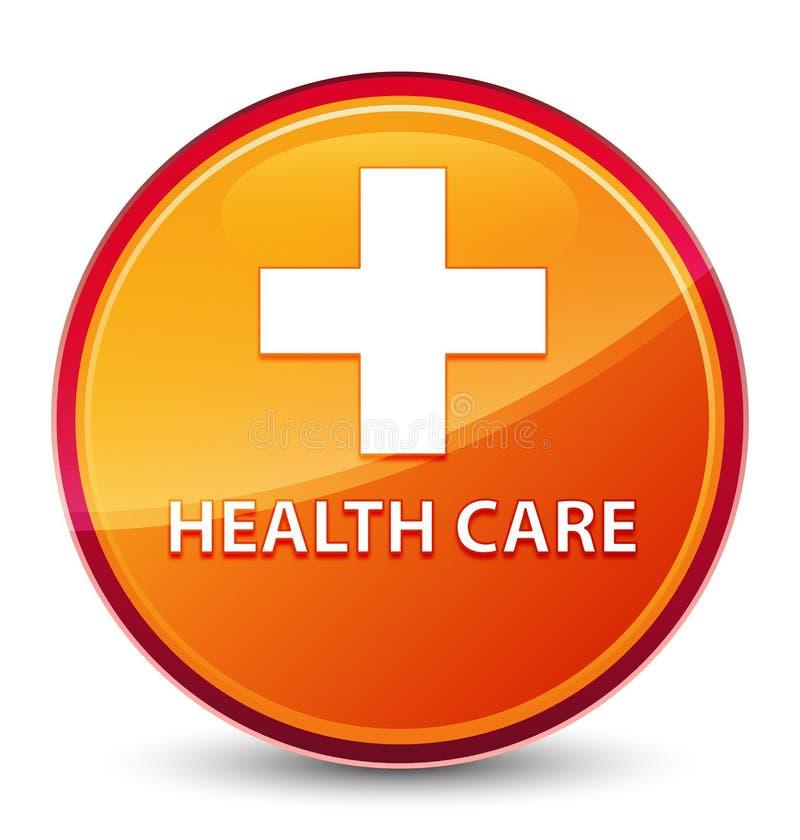 Health care (plus sign) special glassy orange round button. Health care (plus sign) isolated on special glassy orange round button abstract illustration vector illustration