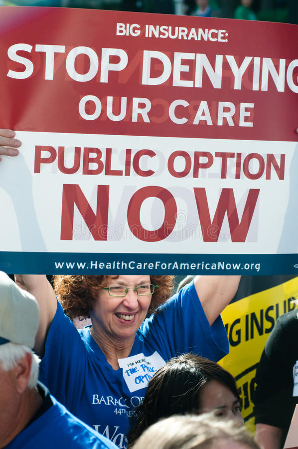 Health Care Protest Editorial Stock Photo