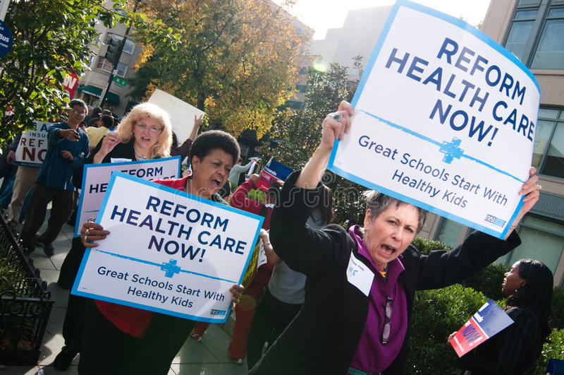 Download Health Care Protest editorial photo. Image of care, slogan - 11533876