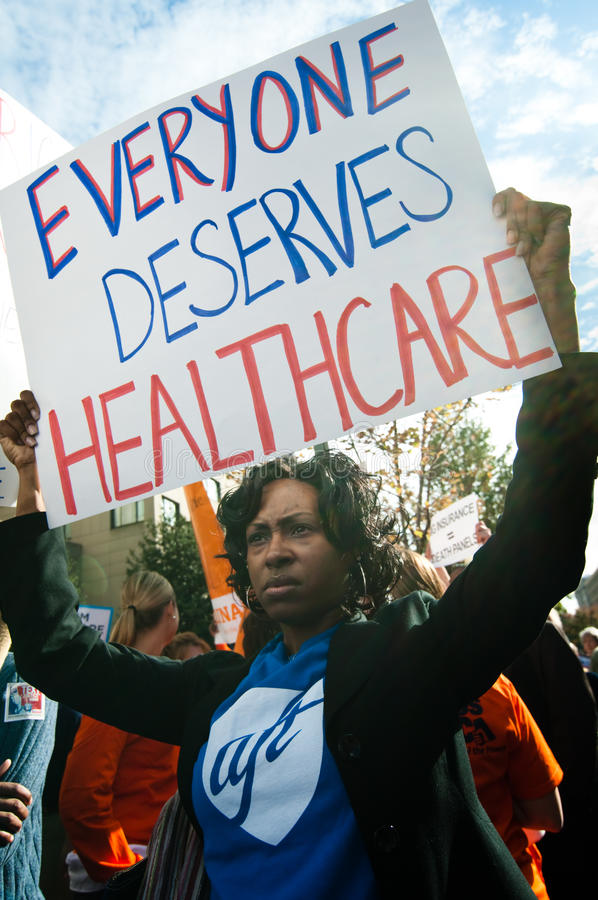 Download Health Care Protest editorial photography. Image of rally - 11533927