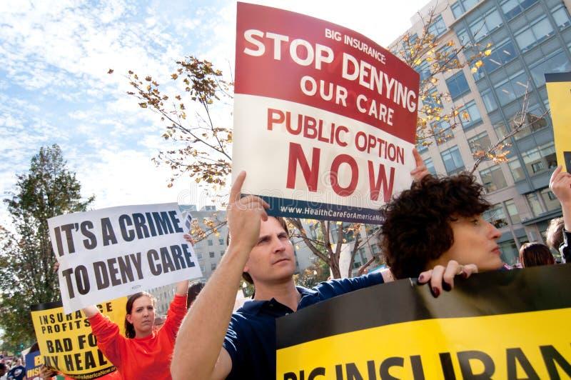 Health Care Protest Editorial Stock Photo
