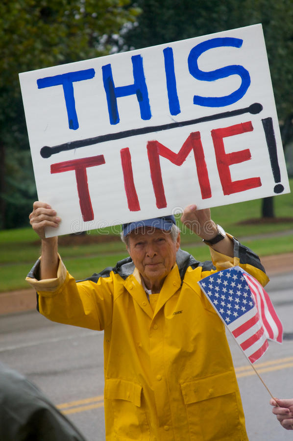 Health Care Protesters royalty free stock photo