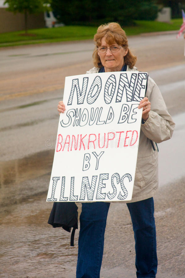 Health Care Protesters stock photography