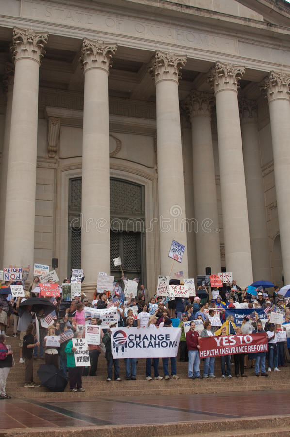 Health Care Protesters stock images