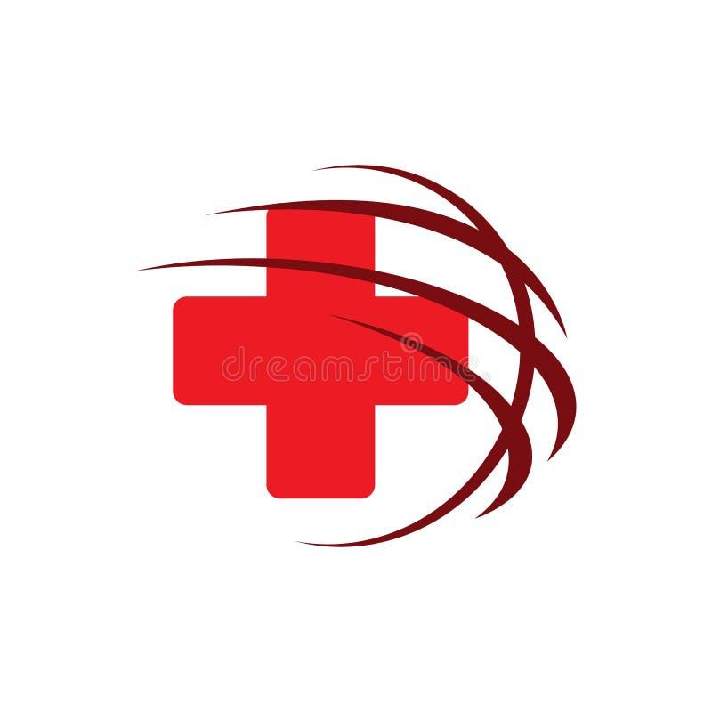 Health care red cross medical logo design logo vector template illustration stock illustration