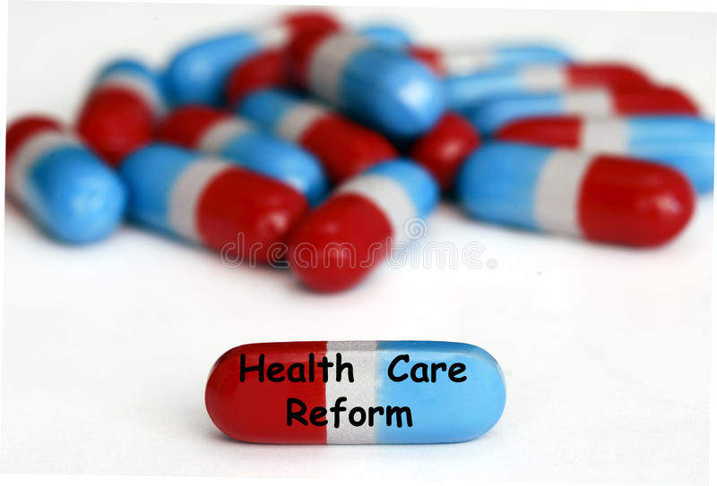 Health Care Reform Pills Isolated On White Royalty Free Stock Photo