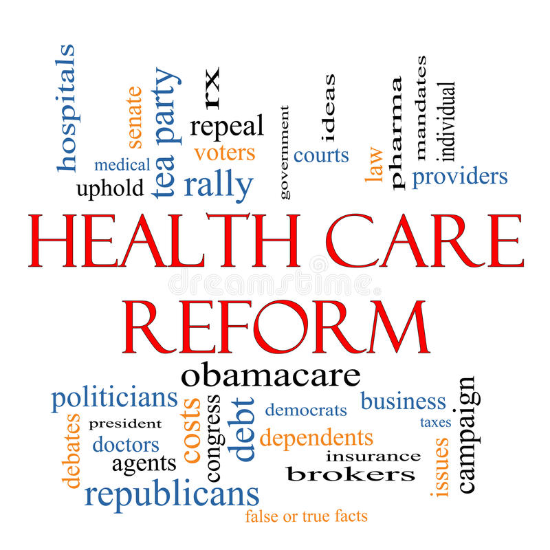 Health Care Reform Word Cloud Concept Royalty Free Stock Photography