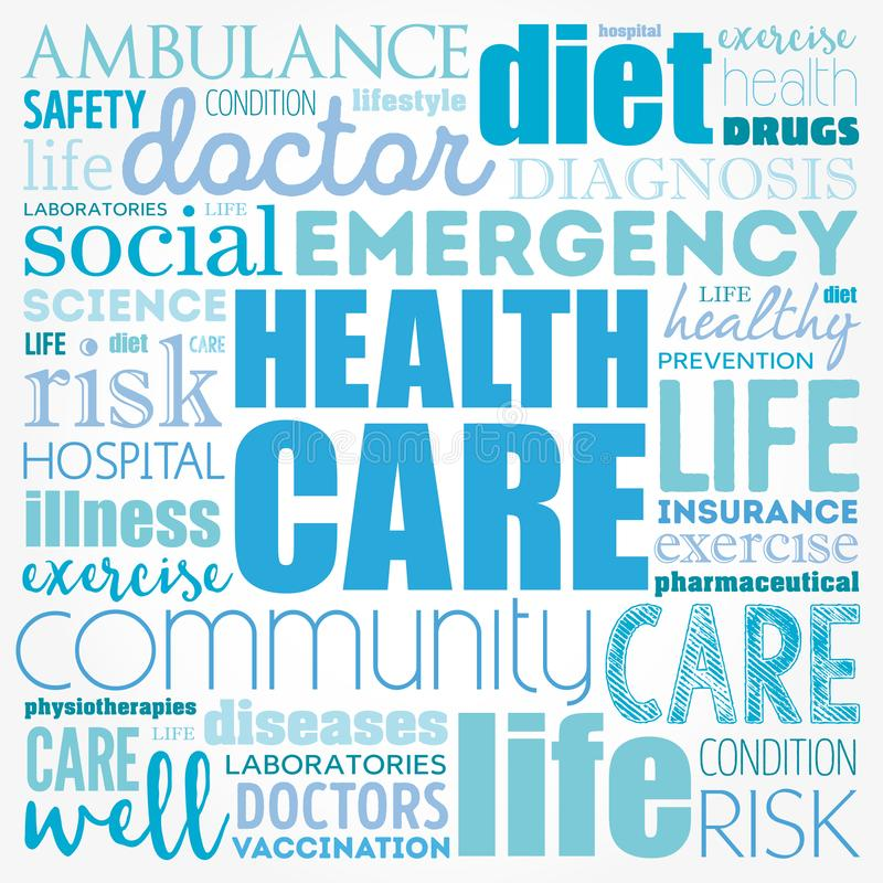 Health care word cloud vector illustration