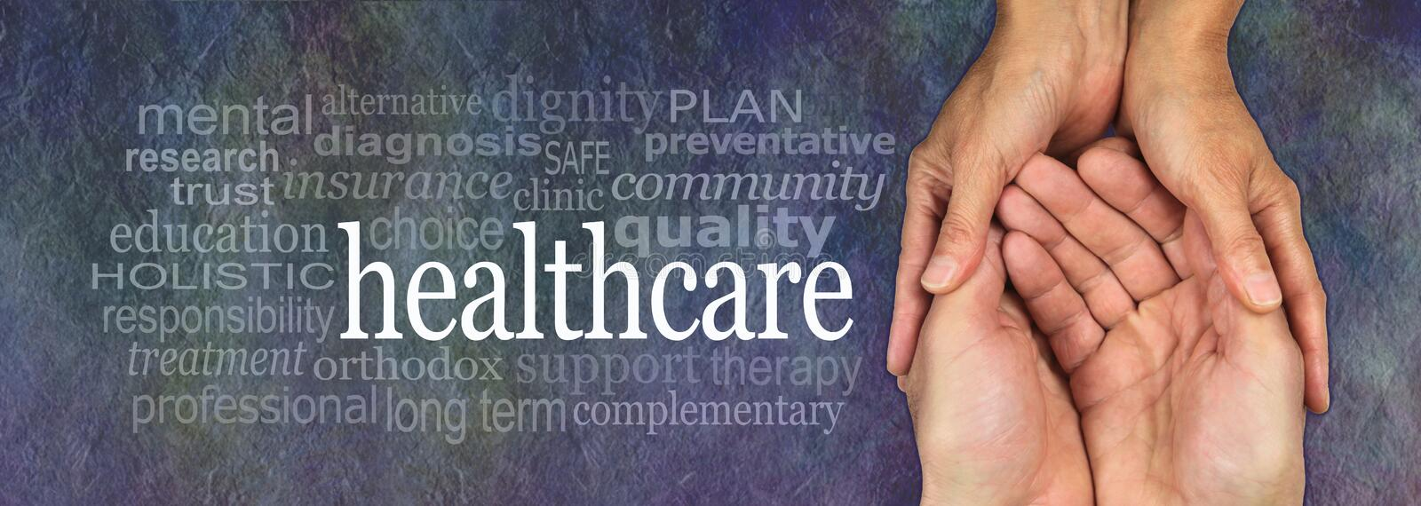 Health Care worker Campaign Banner royalty free stock photo