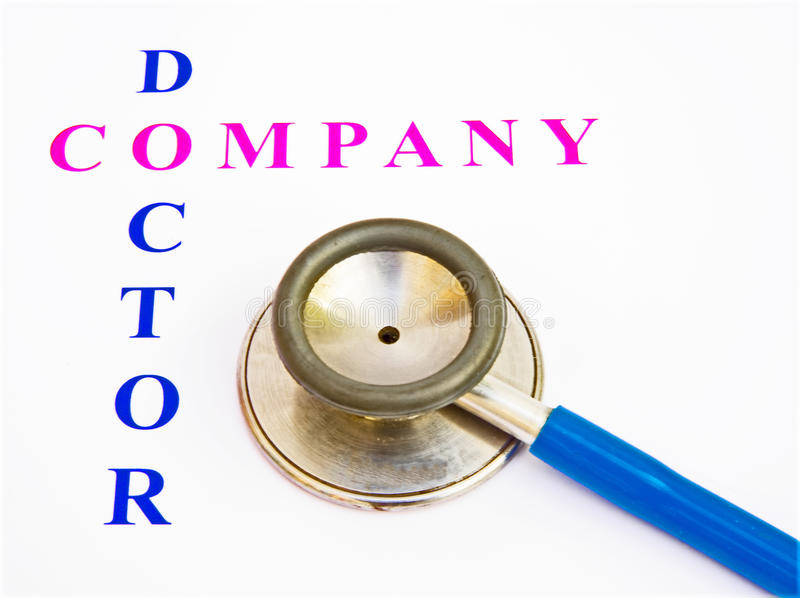 Health check by company doctor. stock image