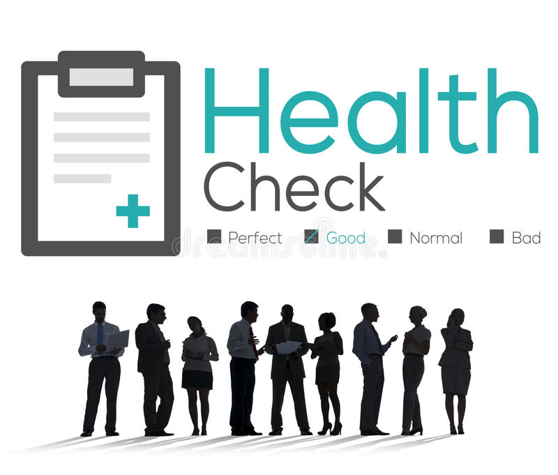 Health Check Diagnosis Medical Condition Analysis Concept royalty free illustration