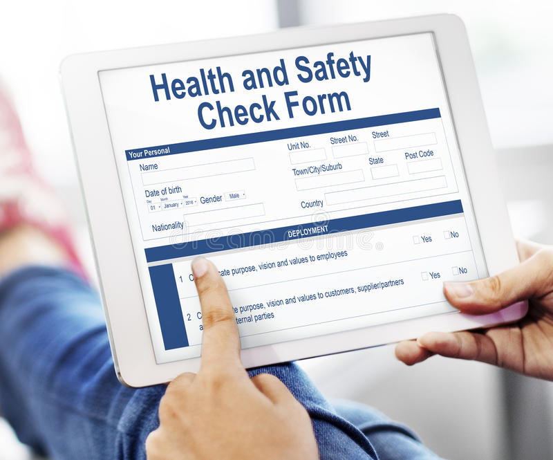 health check form claim history record concept stock image image