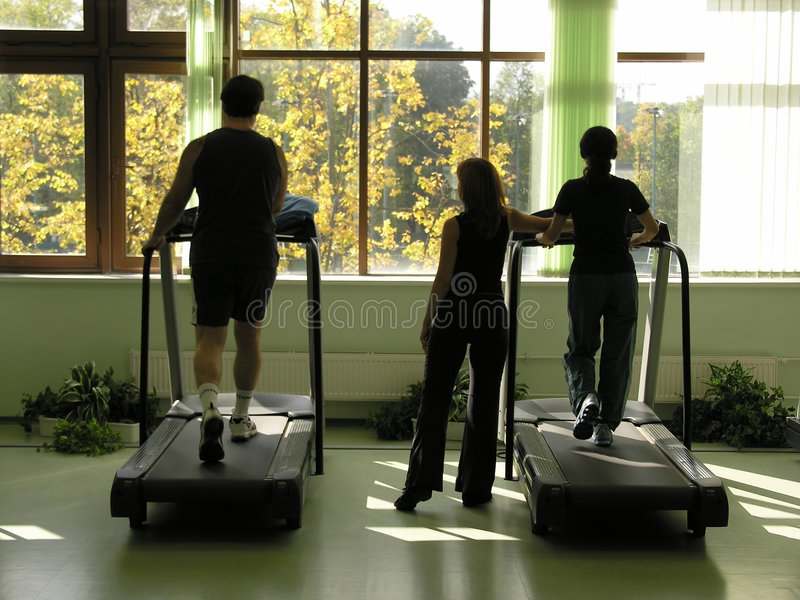 In health club royalty free stock photo