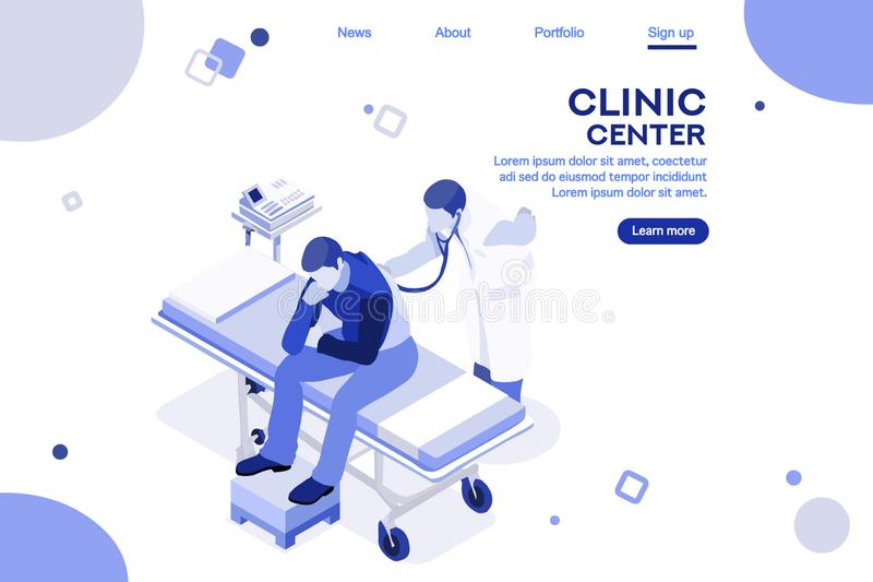 Health Collection Clinic Hospital Web Page Center vector illustration