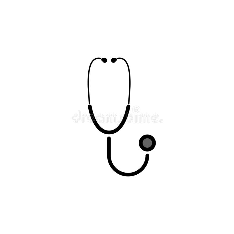 Health concept, stethoscope vector symbol. Health concept, stethoscope vector illustration stock illustration