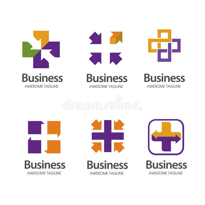 Health Cross plus medical share logo vector illustration