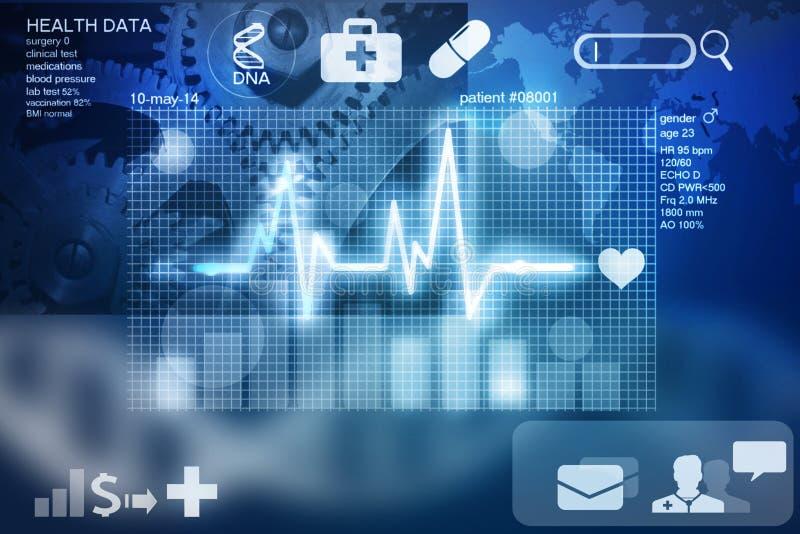 Health data. Screen - future of medicine