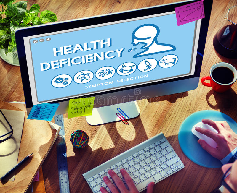 Health Deficiency Allergy Disorder Sickness Healthcare Concept. Health Deficiency Allergy Disorder Sickness Concept royalty free stock image