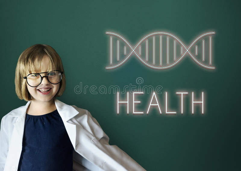 Health DNA Structure Symbol Concept stock illustration