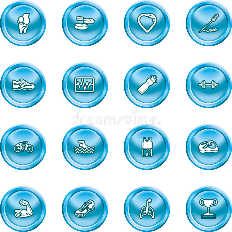 Download Health And Fitness Icon Set Stock Vector - Illustration: 2701120