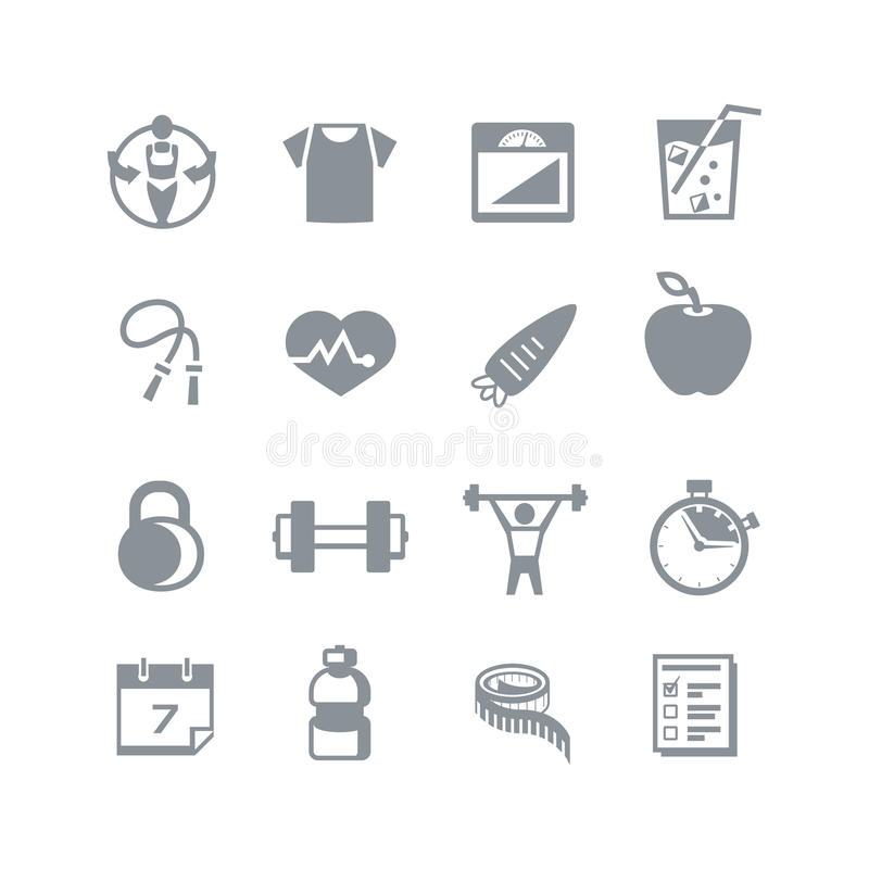 Health & Fitness Icons stock illustration