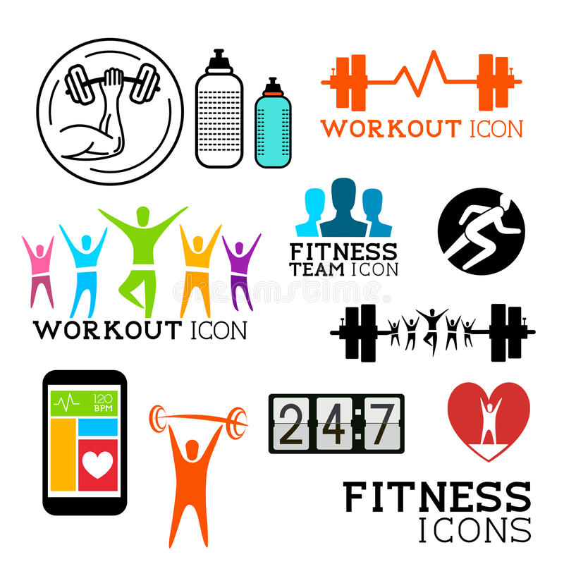 Download Health and Fitness symbols stock vector. Illustration of active - 34573480