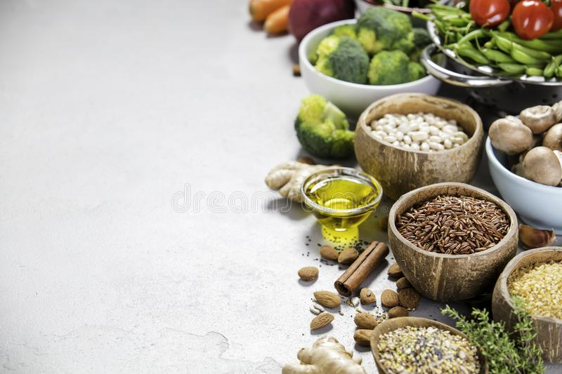 Health food concept stock images