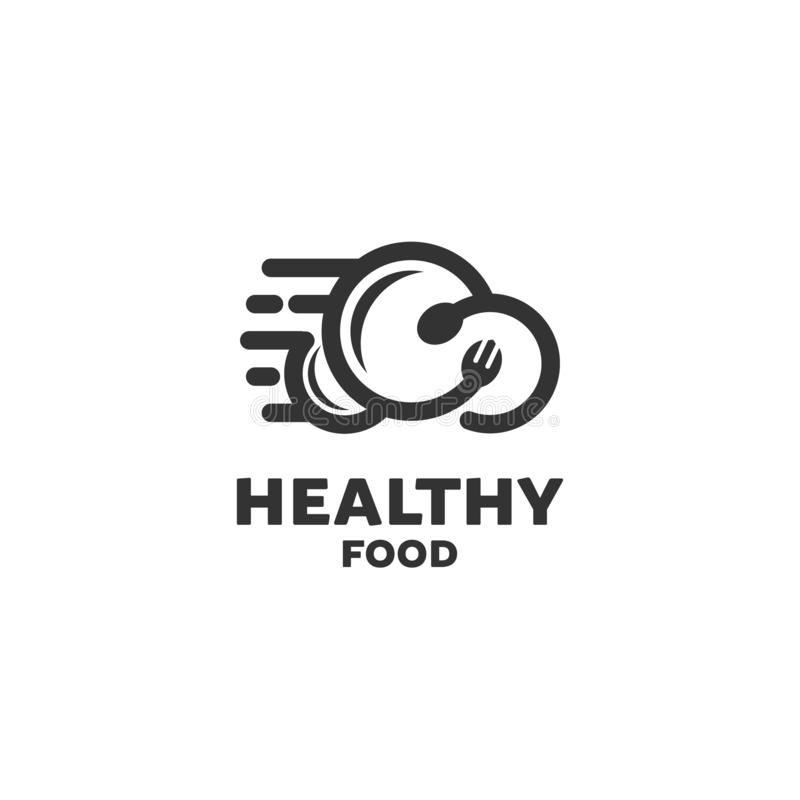 Health food logo designs royalty free illustration