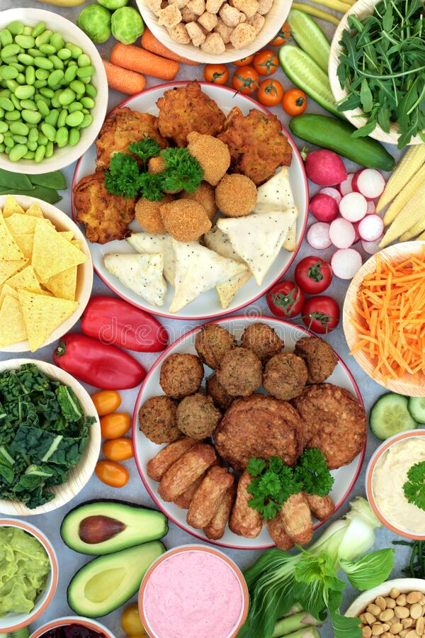 Free Health Food For A Nutritious Vegan Diet Stock Photos - 195345203