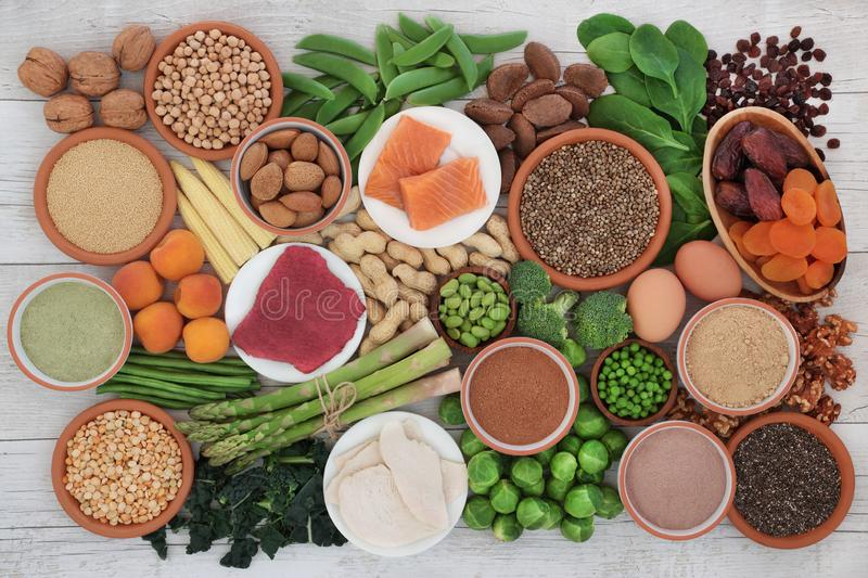 Health Food High in Protein royalty free stock images