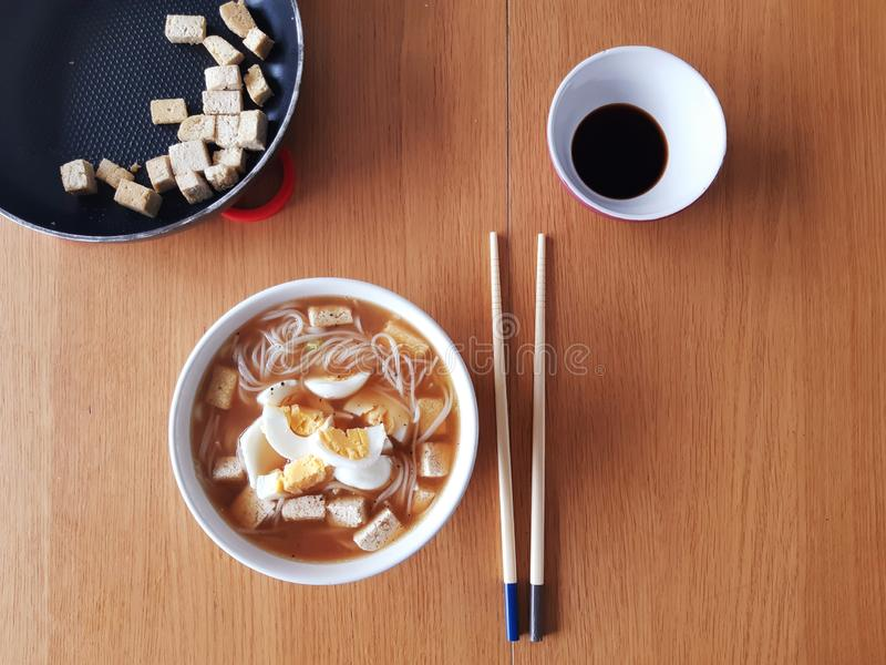 health food with a japanese twist stock photography