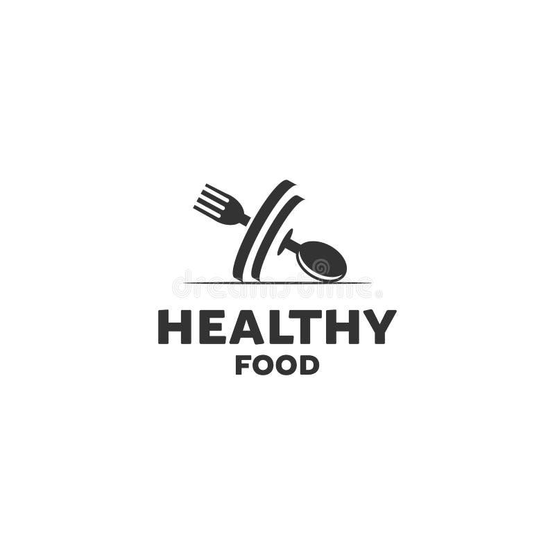 Healthy food logo designs royalty free illustration