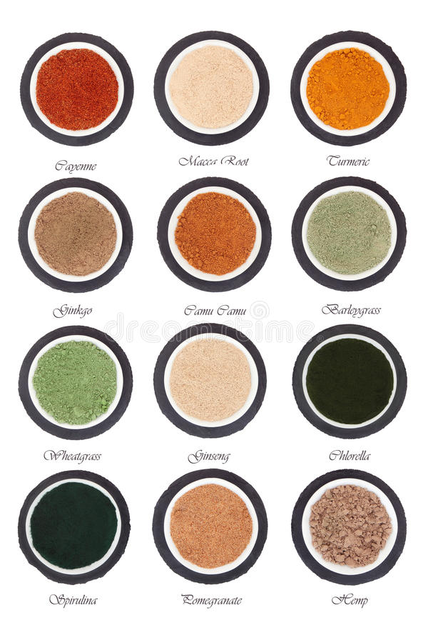 Health Food Powder Selection stock images