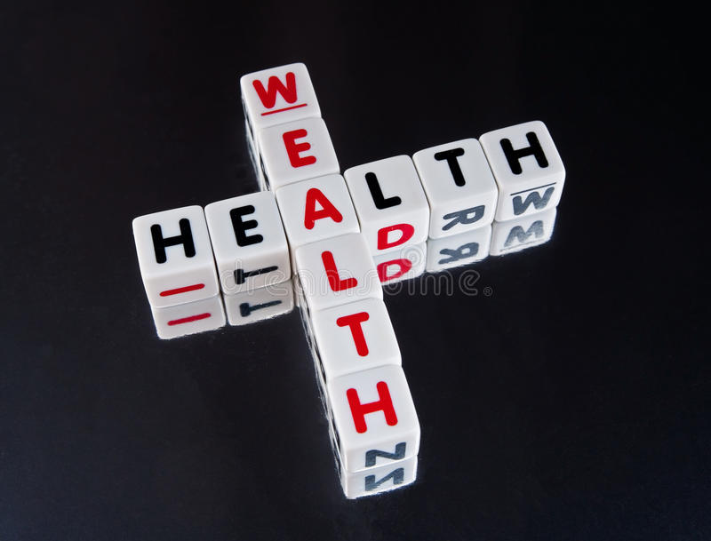 Health goes with wealth royalty free stock image