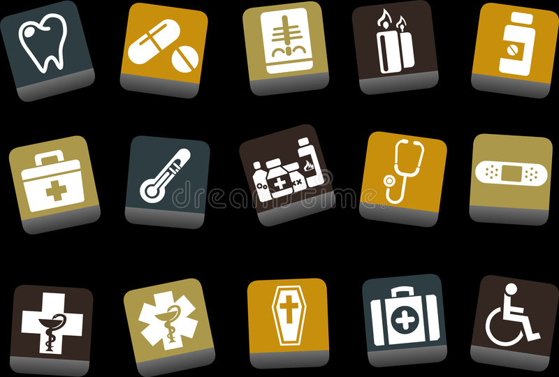 Download Health icon set stock vector. Image of hospital, band - 9234731