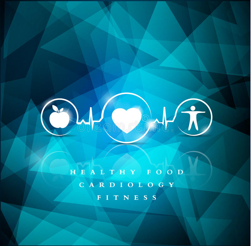 Health icons geometric background stock illustration