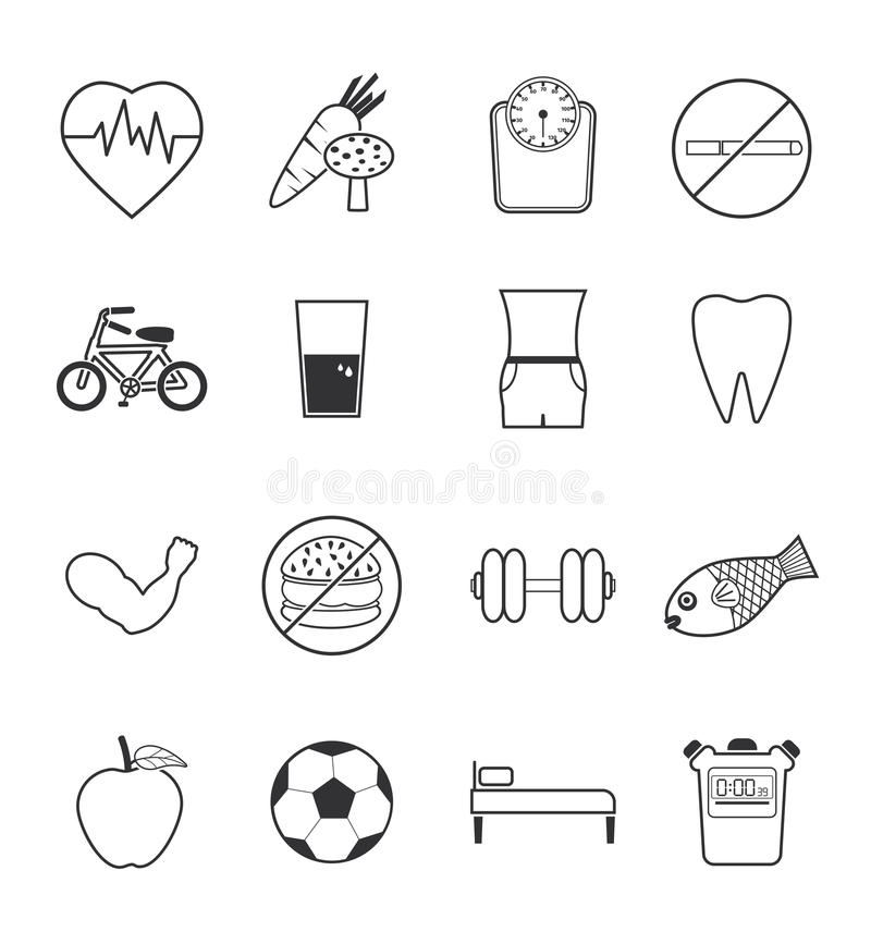 Download Health icons set stock vector. Image of illustration - 41173087