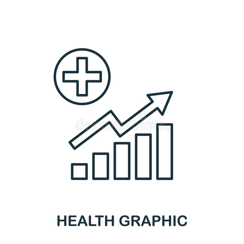 Health Increase Graphic icon. Mobile apps, printing and more usage. Simple element sing. Monochrome Health Increase Graphic icon i. Llustration stock illustration