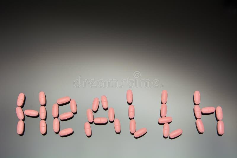 Health inscription tablets stock photos