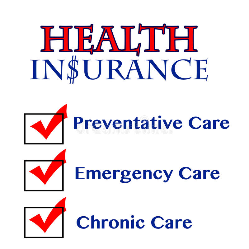Health Insurance benefits components stock photography