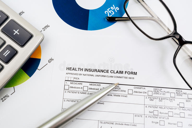 Health-insurance claim form royalty free stock images